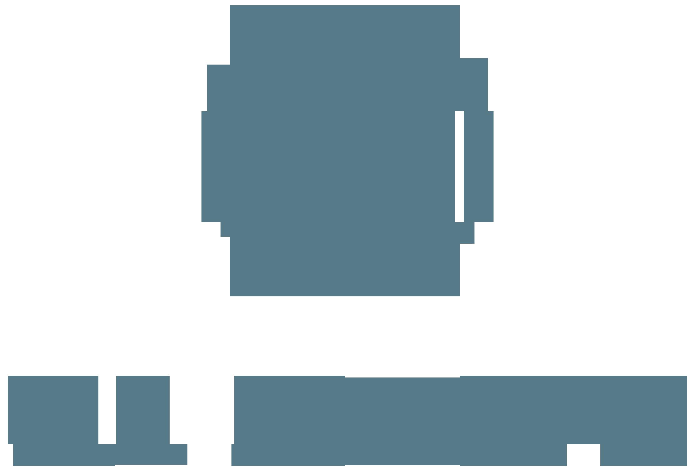 oa salon logo blue